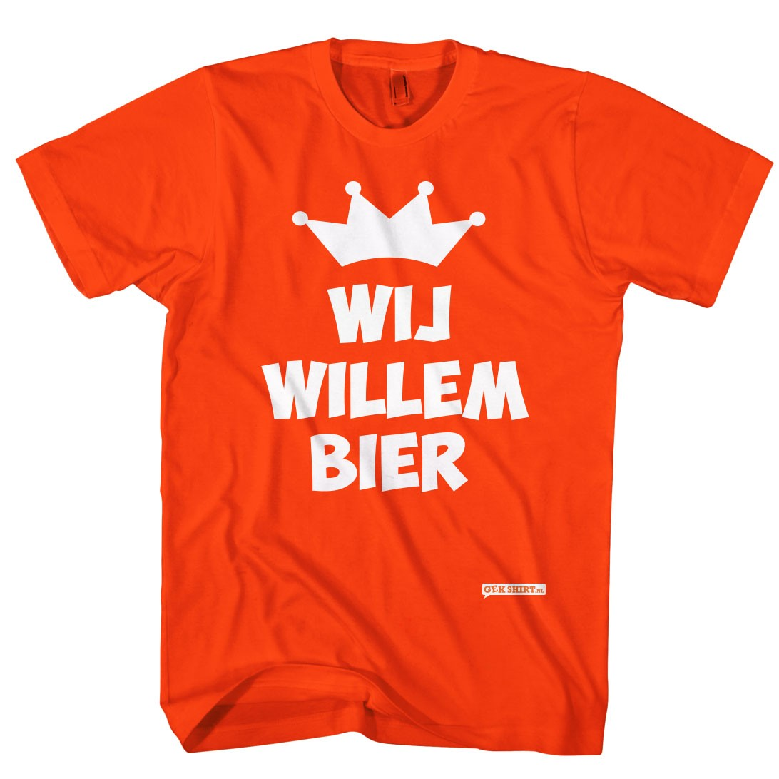 wij willem bier koningsdag t shirts gekshirt leuke. Black Bedroom Furniture Sets. Home Design Ideas
