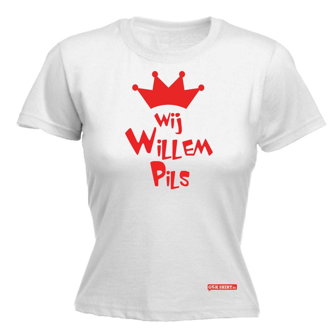 Wij Willem pils, koningsdag dames shirt