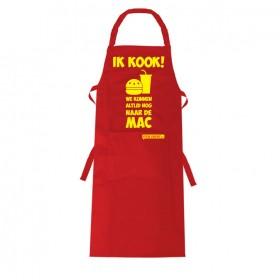 Ik kook... we kunnen altijd nog naar de Mac Leuk keukenschort