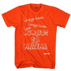Oranje boven leve de Koning en Maxima t-shirt