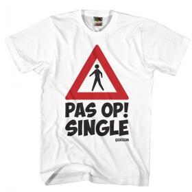 Pas op single Vrijgezellen shirt Heren