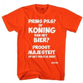 Prins pils of koning van het bier Koningsdag T-shirt