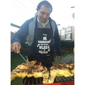 Ik verbrand uw stukje vlees in style Barbecue schort