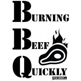 Burning Beef Quickly BBQ schort