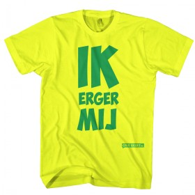 Ik erger mij T-shirt groen en geel