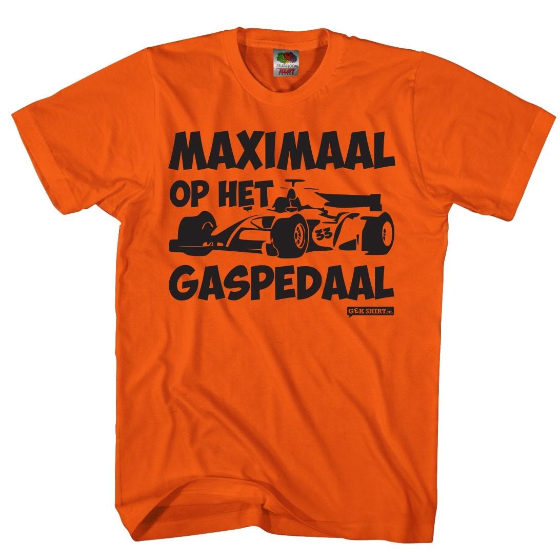 Maximaal op het gaspedaal Oranje Max shirt