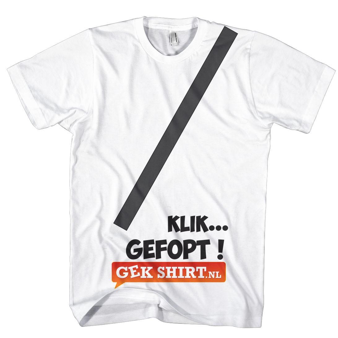 Gordel T-shirt Klik gefopt