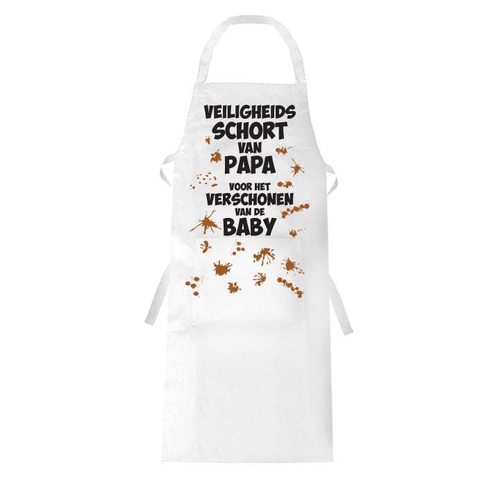 Veiligheidsschort van papa voor het verschonen van de baby Leuk kraamcadeau