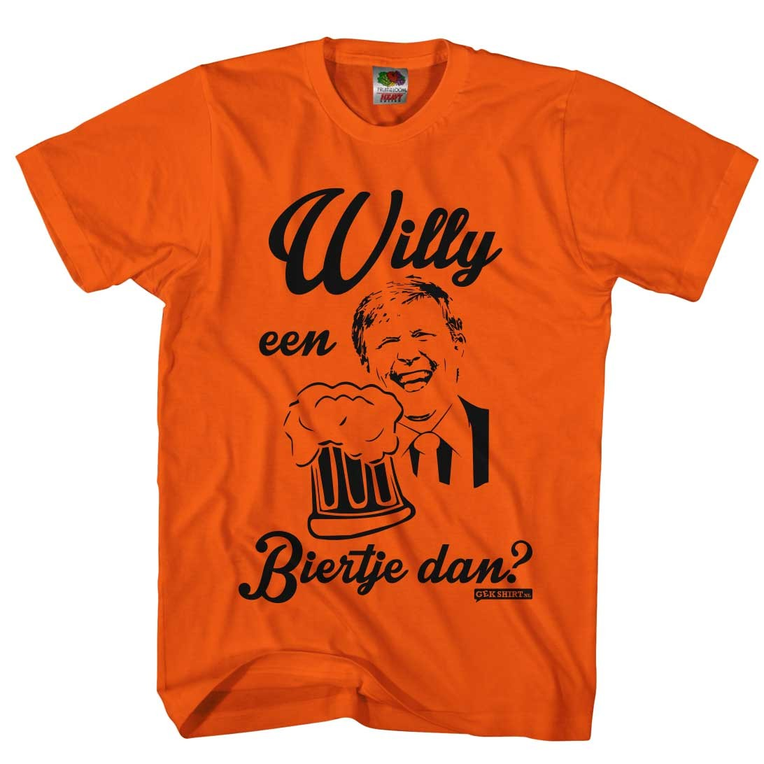 Willy een biertje dan? Willy Koningsdag Heren shirts 2016