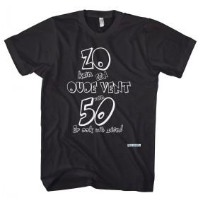 50 jaar T- shirt, zo kan een vent van 50 er ook uit zien