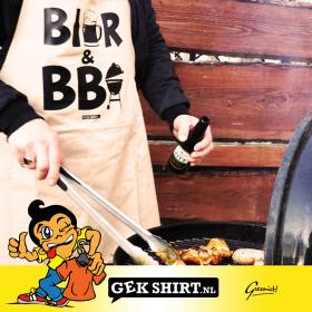 BIER en BBQ Barbecue Schort