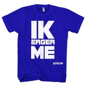 Ik erger me blauw T-shirt