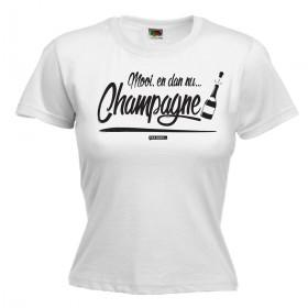 Mooi,  en dan nu CHAMPAGNE Dames shirt