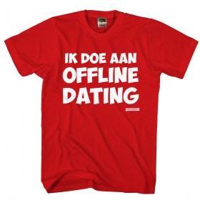 ik doe aan offline dating Heren shirt