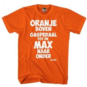 Oranje boven gaspedaal tot de MAX naar onder