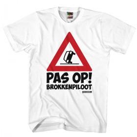 Pas op brokken piloot shirt Rijbewijs shirt